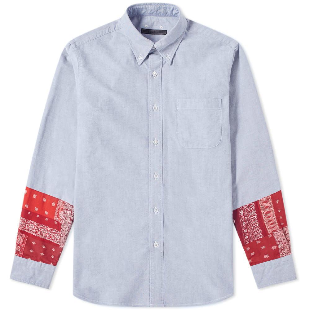 Photo: SOPHNET. Bandana Panel Shirt Navy