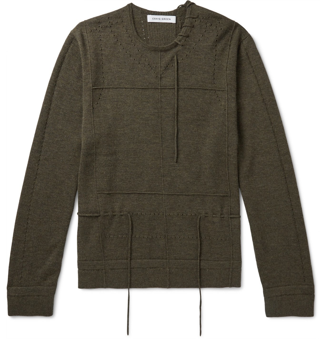 Photo: Craig Green - Laced Cashmere Sweater - Green