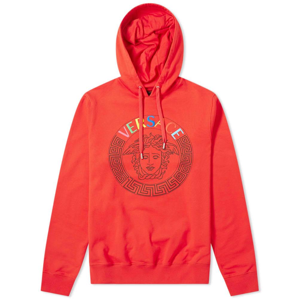 Photo: Versace Embroidered Multi Logo Medusa Popover Hoody