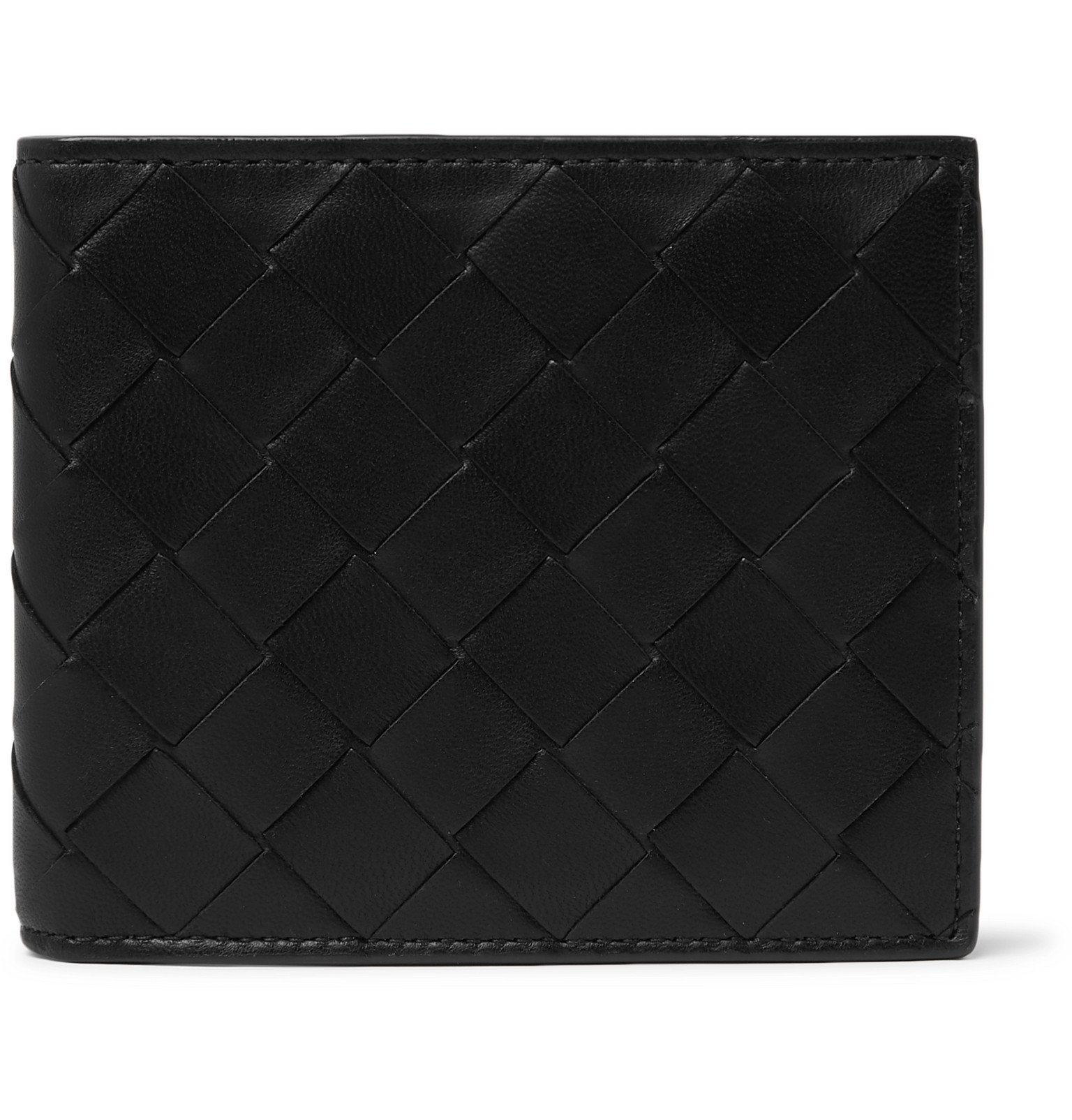 Photo: Bottega Veneta - Intrecciato Leather Billfold Wallet - Black