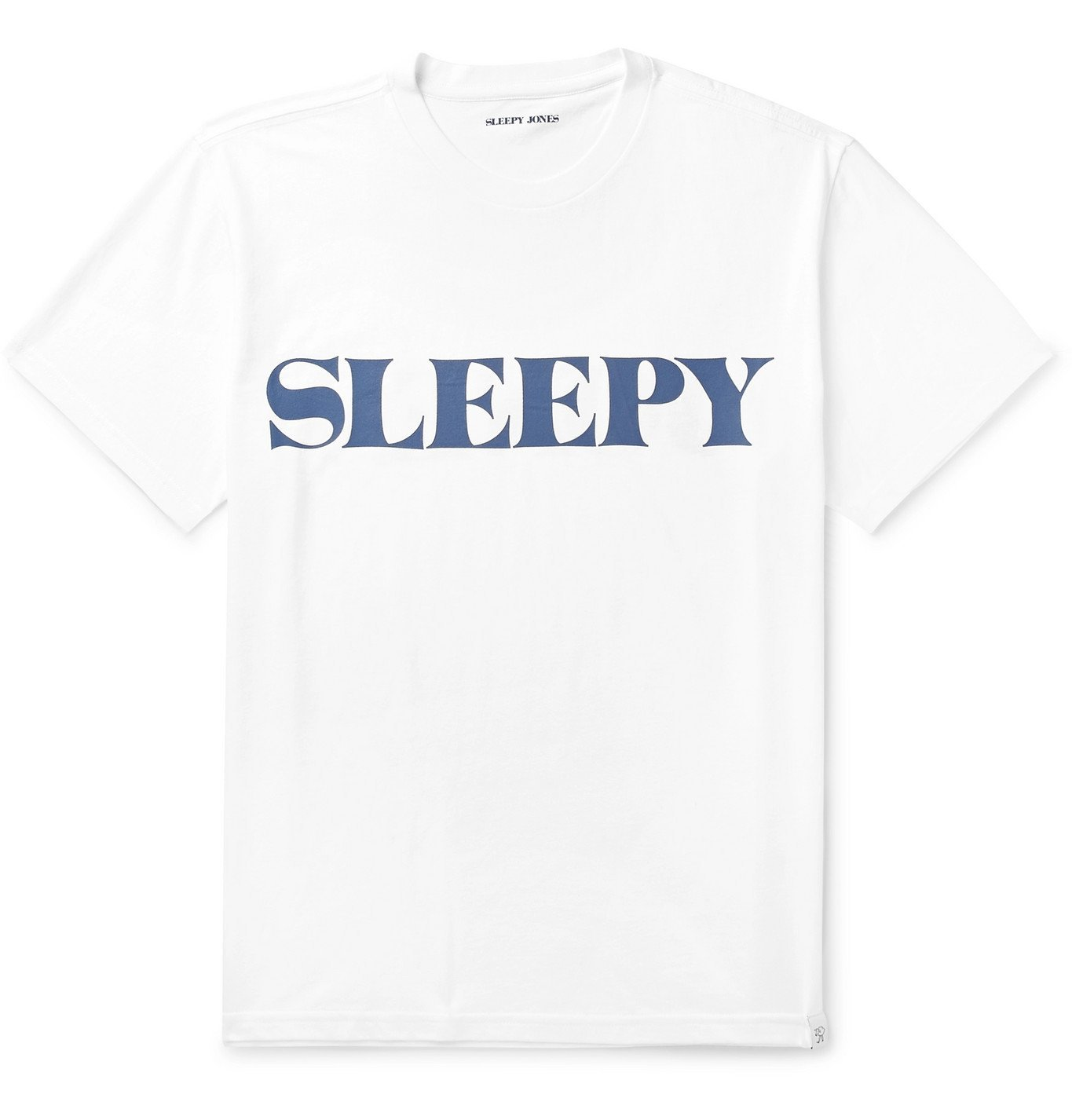 Photo: Sleepy Jones - Jackson Logo-Print Cotton-Jersey T-Shirt - White