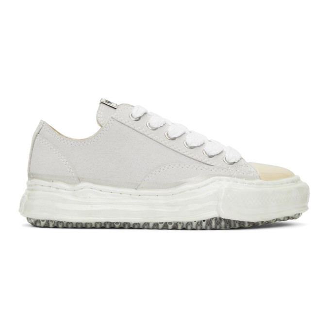 Photo: Miharayasuhiro White Suede Original Sole Dip Sneakers