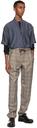 Giorgio Armani Brown Wool Micro Houndstooth Motif Pants