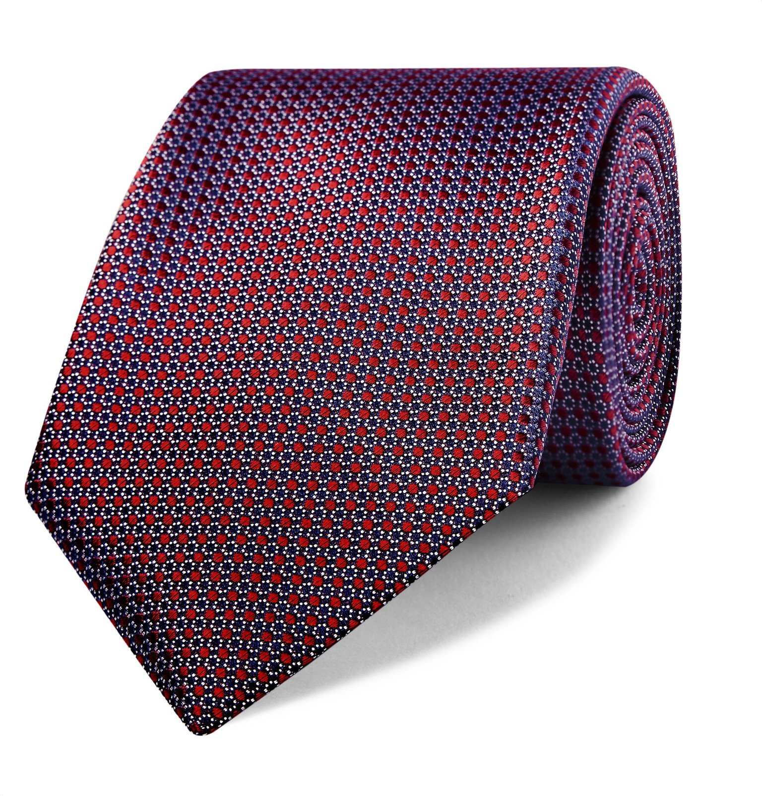 Photo: Canali - 8cm Floral Silk-Jacquard Tie - Red