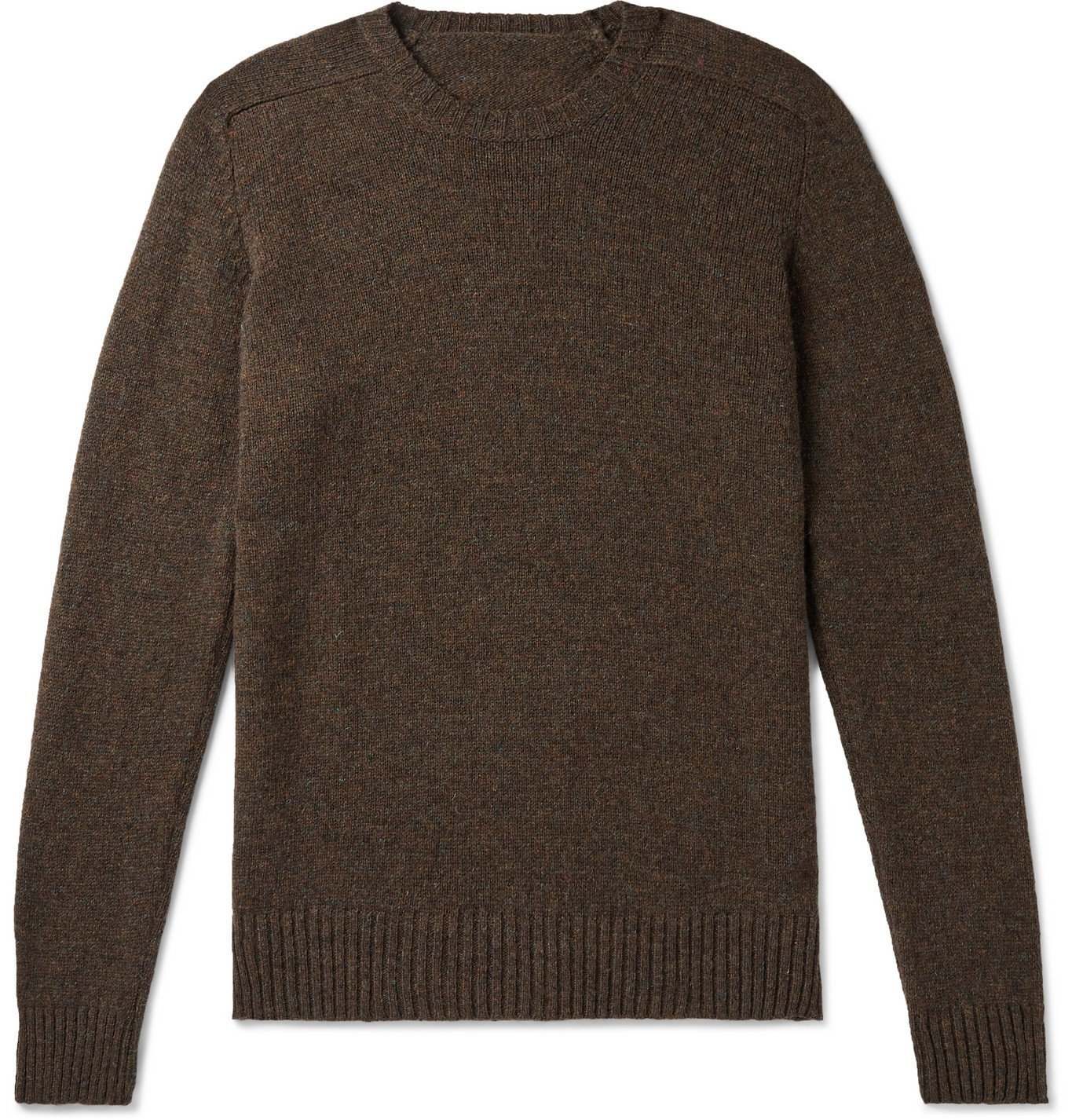 Photo: Anderson & Sheppard - Shetland Wool Sweater - Brown