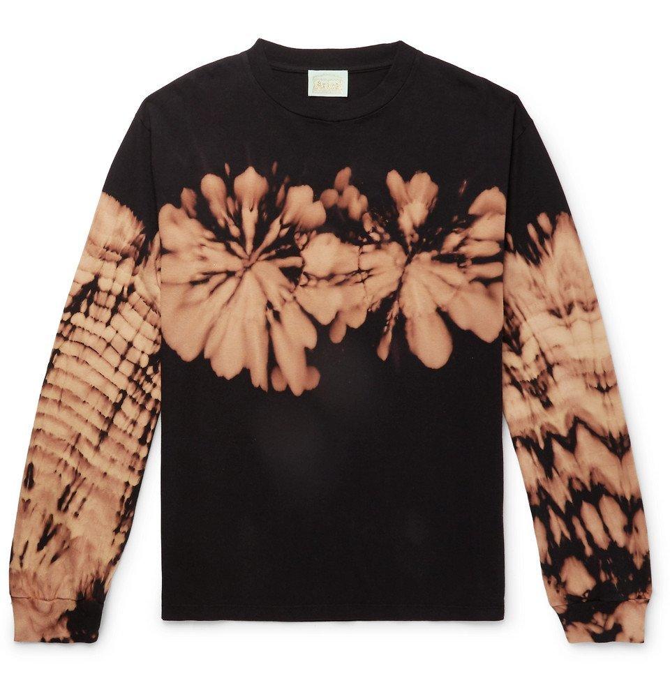Aries - Printed Tie-Dyed Cotton-Jersey T-Shirt - Men - Black