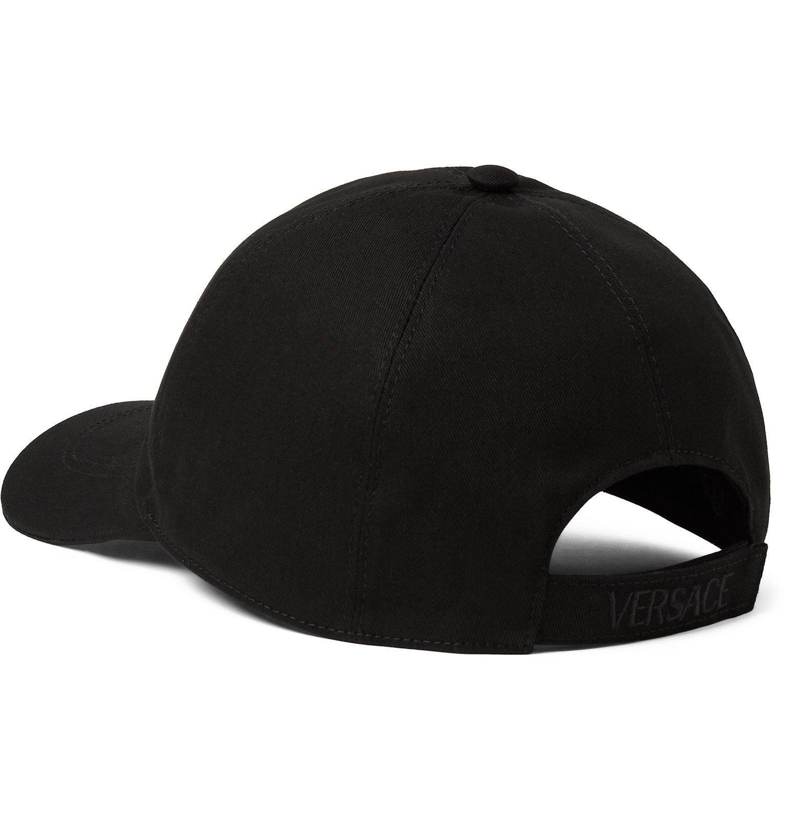 Versace - Logo-Embroidered Cotton-Twill Baseball Cap - Black