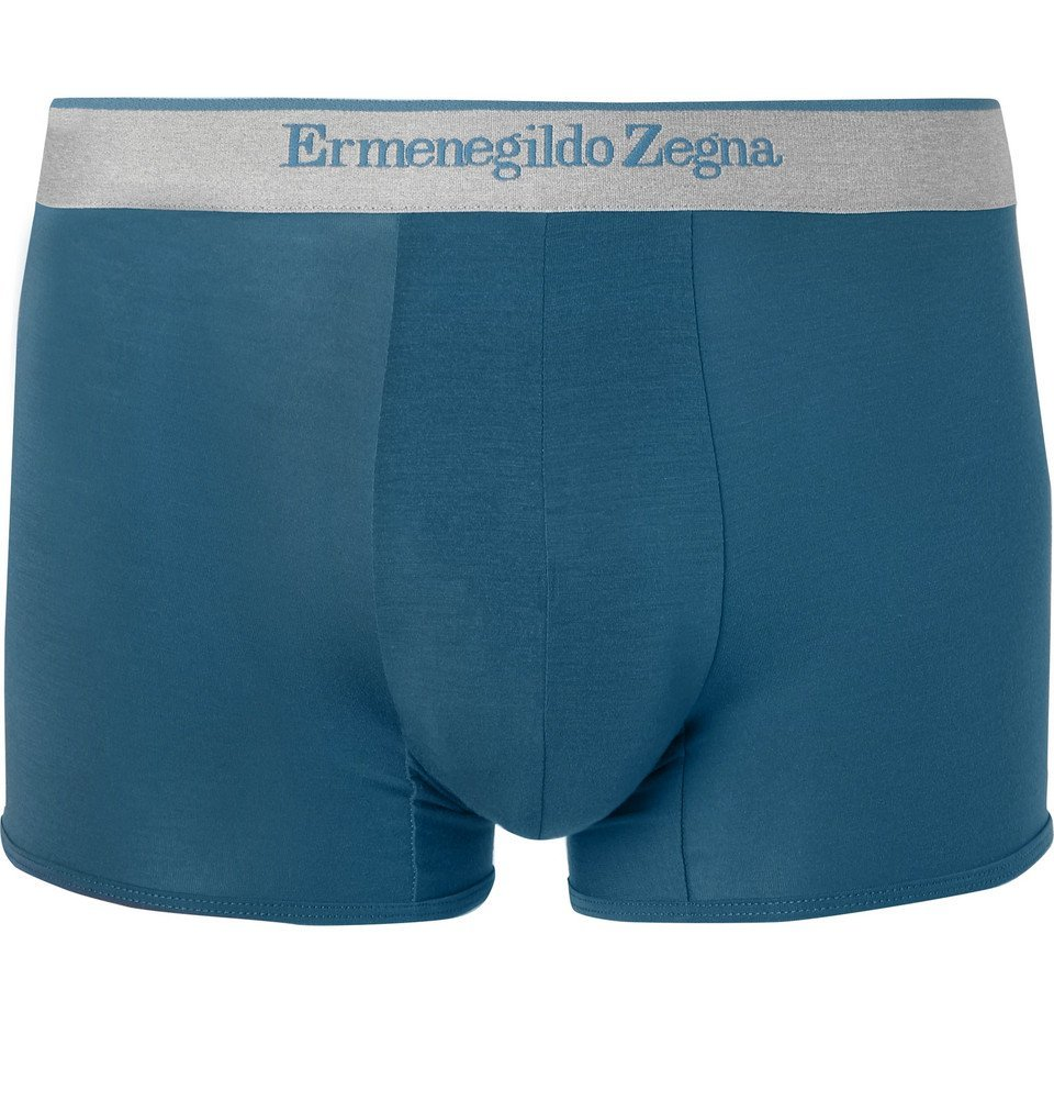 Photo: Ermenegildo Zegna - Stretch-Modal Jersey Boxer Briefs - Blue