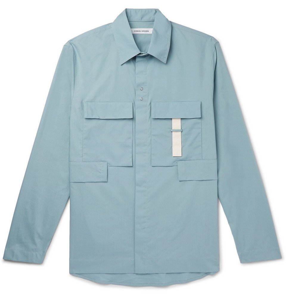 Photo: Craig Green - Cotton-Ripstop Shirt - Blue