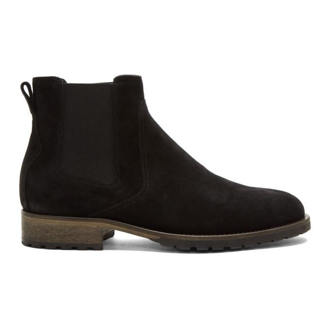 Belstaff Black Rustic Suede Rode Boots