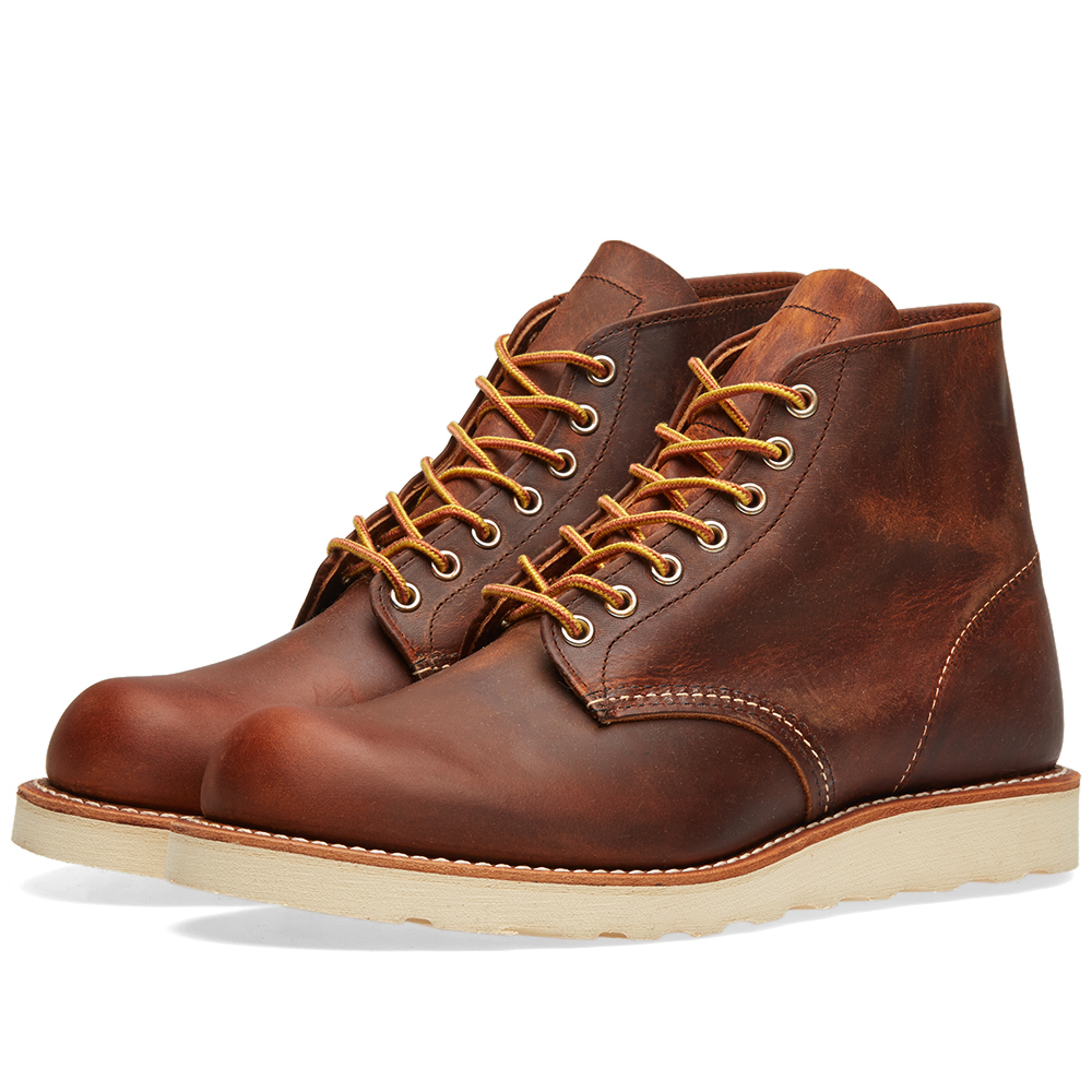 "Photo: Red Wing 9111 Heritage 6"" Round Toe Boot Brown"