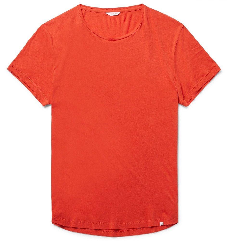 Photo: Orlebar Brown - OB-T Slim-Fit Cotton-Jersey T-Shirt - Men - Orange
