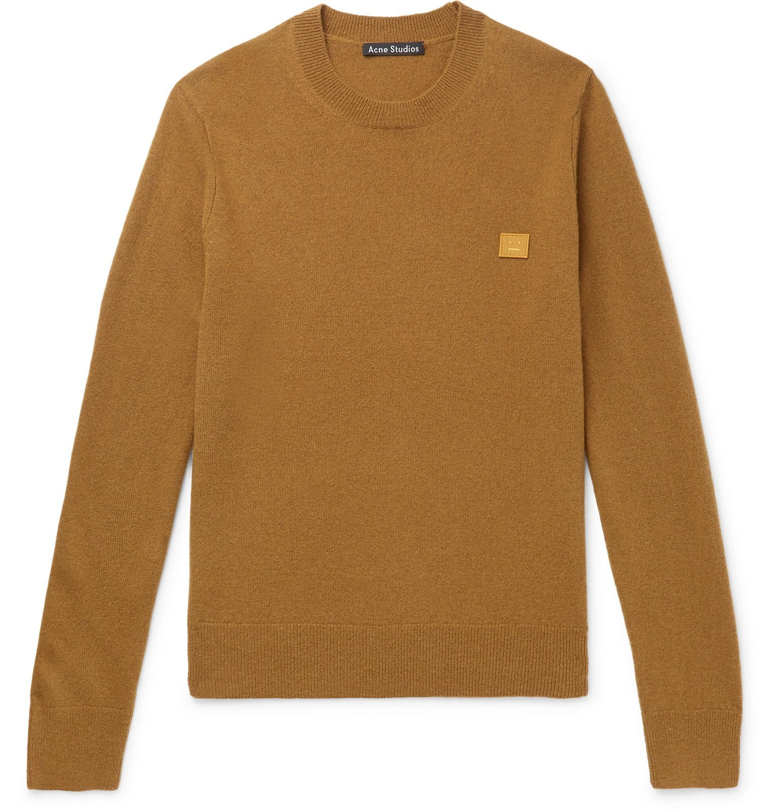 Photo: Acne Studios - Kalon Logo-Appliquéd Wool Sweater - Brown