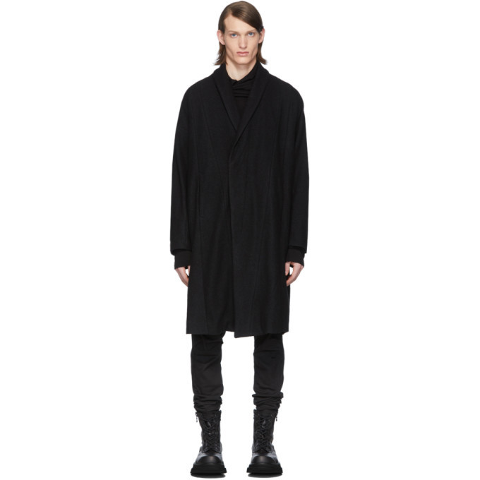 Photo: Julius SSENSE Exclusive Black Ring Soft Melton Coat