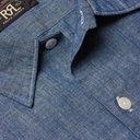 RRL - Fenton Cotton-Chambray Shirt - Blue - M