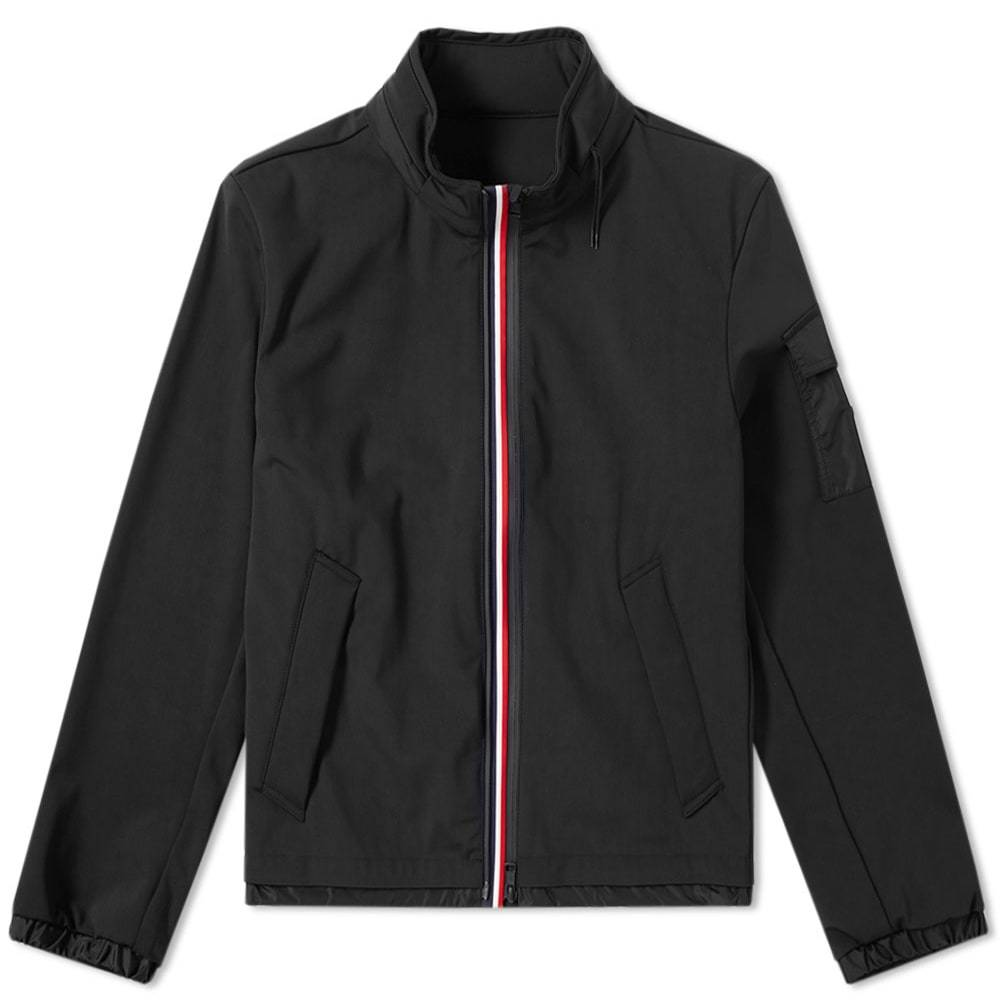 Photo: Moncler Ventoux Soft Shell Tricolour Hooded Jacket Black