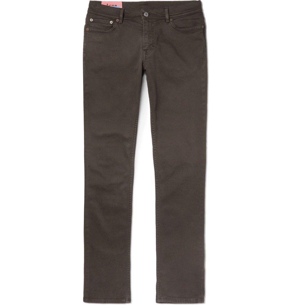 Acne Studios - North Slim-Fit Stretch-Denim Jeans - Men - Dark green