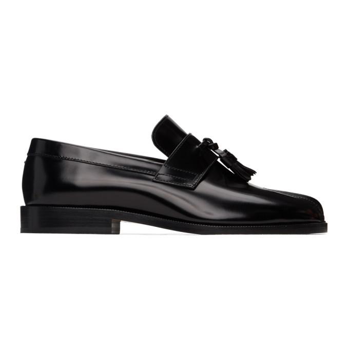 Photo: Maison Margiela Black Leather Tabi Loafers