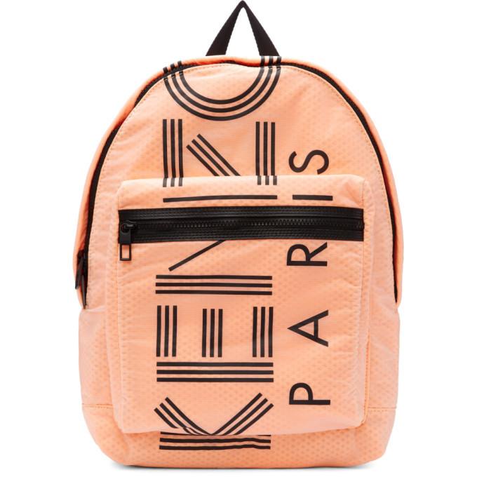 Photo: Kenzo Orange Large Logo Backpack