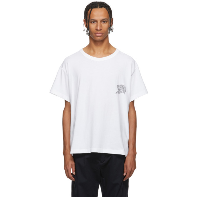 Photo: Alexander Wang White Warped Logo T-Shirt