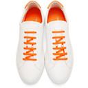 Common Projects White and Orange Original Achilles Retro Low Sneakers