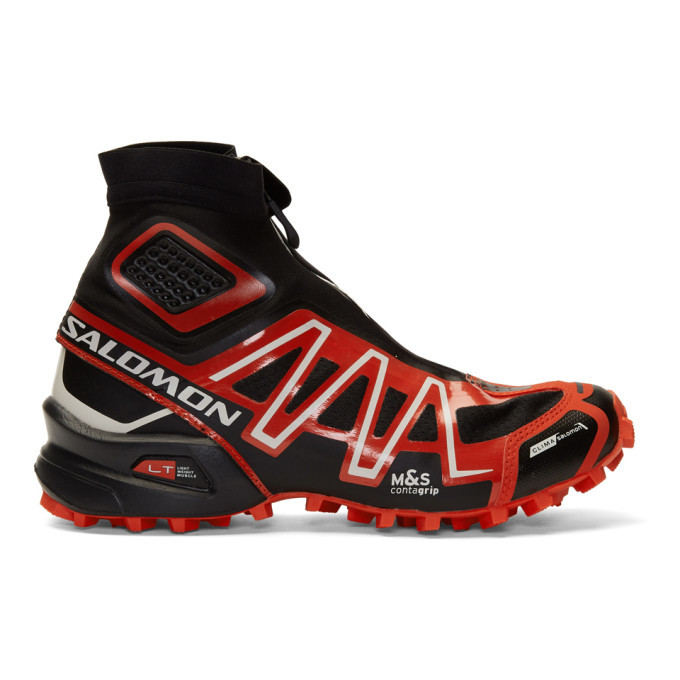 Photo: Salomon Black and Red Limited Edition Snowcross ADV LTD Sneakers