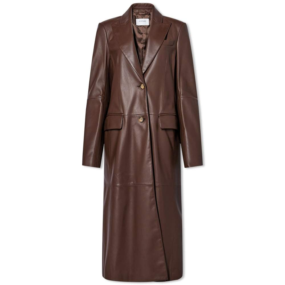 Photo: Sportmax Girone Leather Trench Jacket