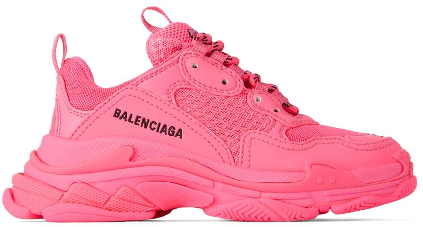 Photo: Balenciaga Kids Kids Pink Triple S Sneakers