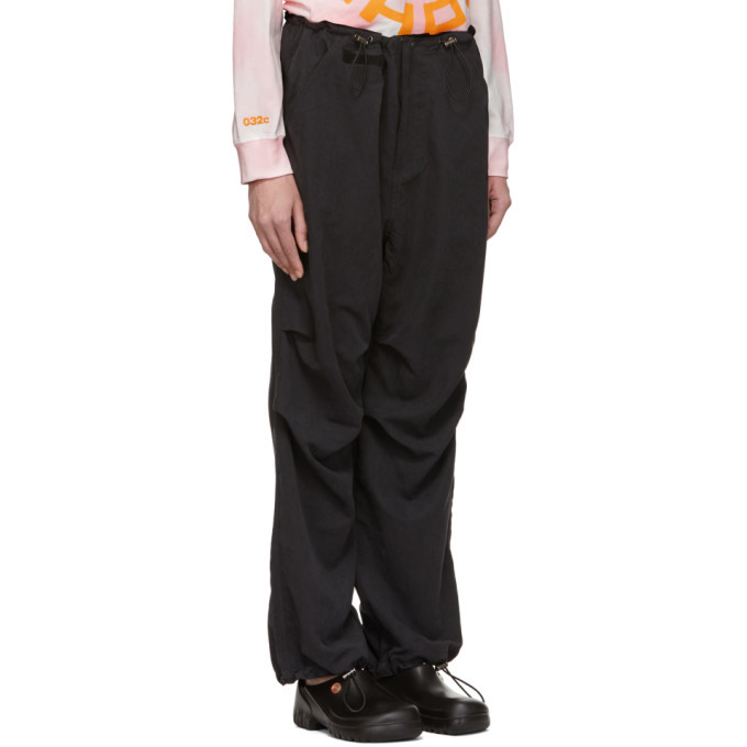 032c Black Flap Pocket Trousers