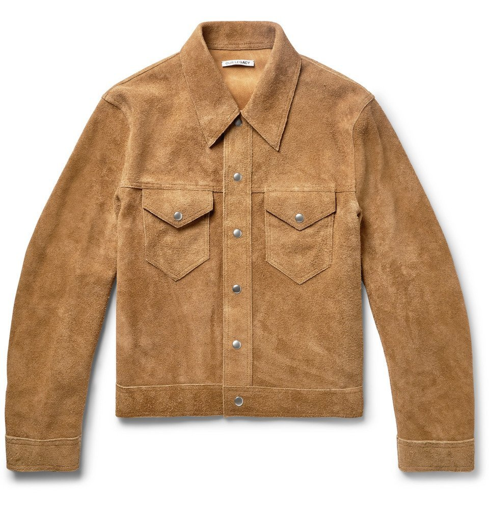 Photo: Our Legacy - Suede Trucker Jacket - Sand