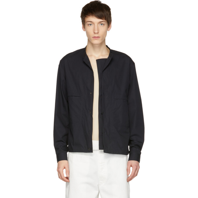 Photo: Lemaire Blue Double Front Overshirt Jacket