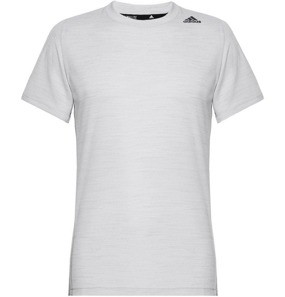 Adidas Sport - Ultimate Tech Mélange Climalite T-Shirt - Light gray