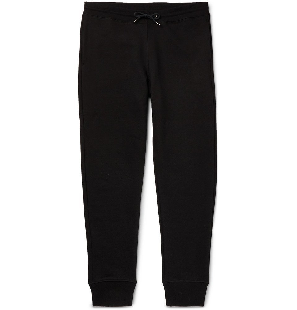 Photo: PS by Paul Smith - Tapered Organic Loopback Cotton-Jersey Sweatpants - Men - Black
