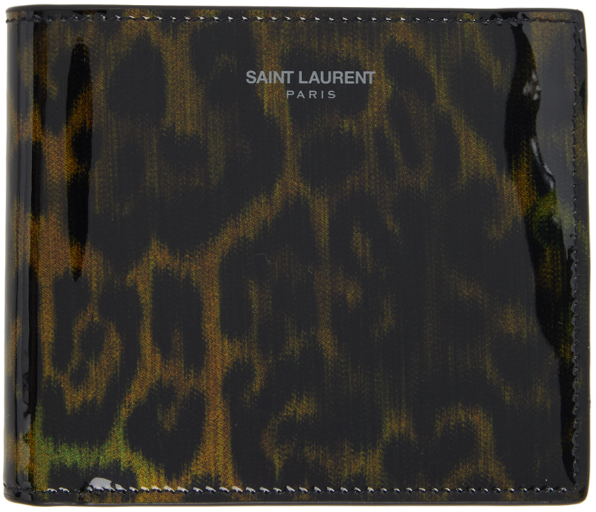Photo: Saint Laurent Black & Brown Leopard Print East/West Wallet