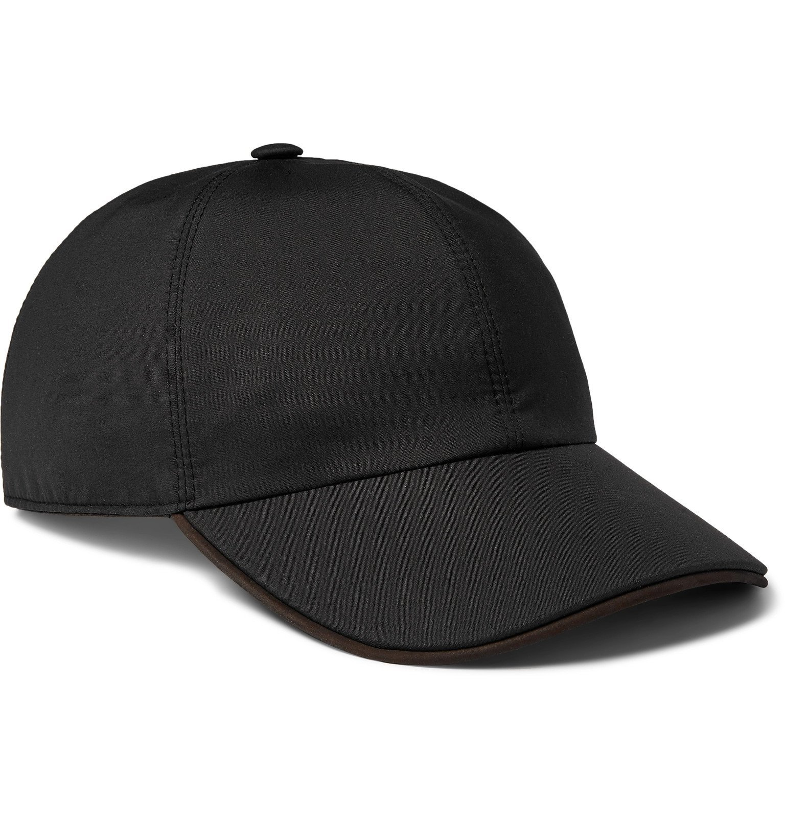 Photo: Ermenegildo Zegna - Logo-Embroidered Wool and Silk-Blend Baseball Cap - Black