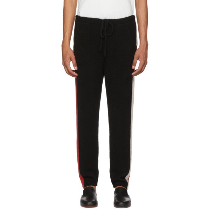 Photo: The Elder Statesman SSENSE Exclusive Black Striped Cashmere Lounge Pants