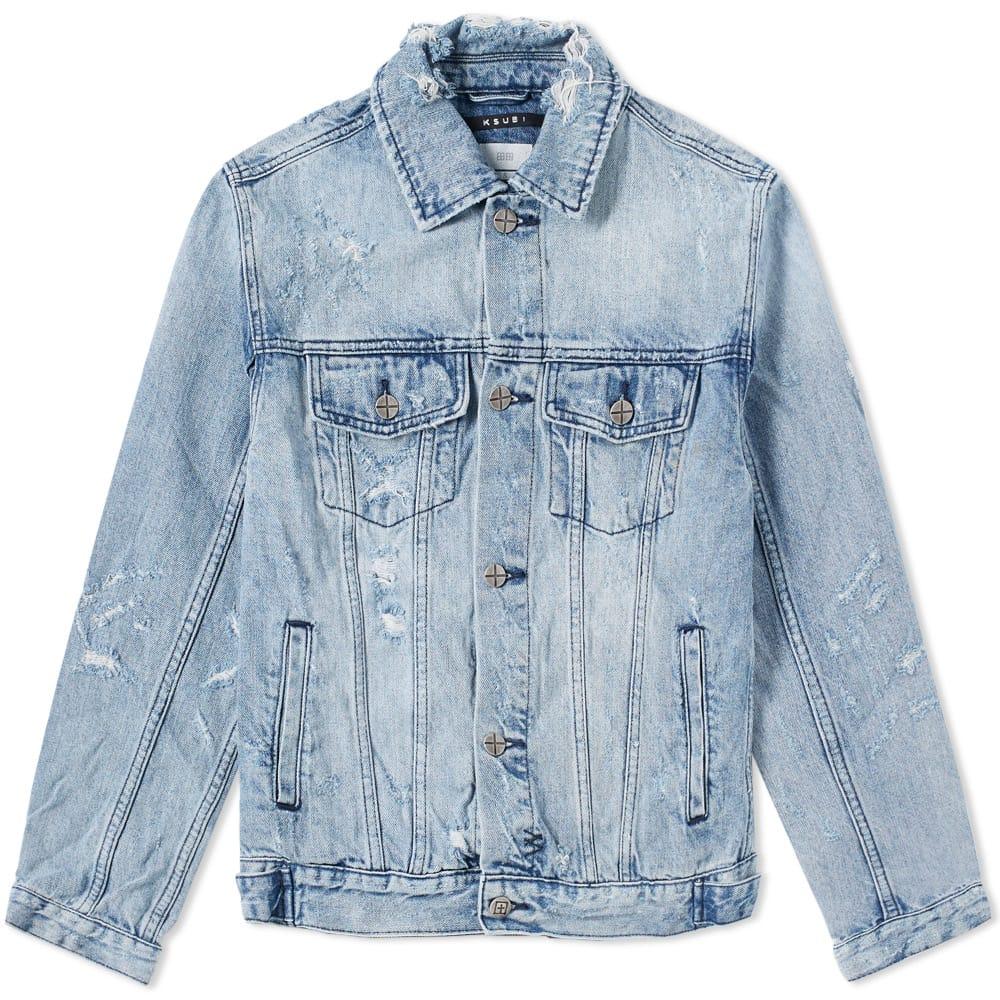 Photo: Ksubi Classic Smashed Jacket Blue