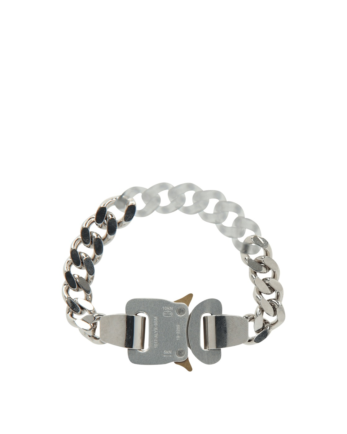 Photo: 1017 Alyx 9sm Metal And Nylon Chain Bracelet Silver/Transparent