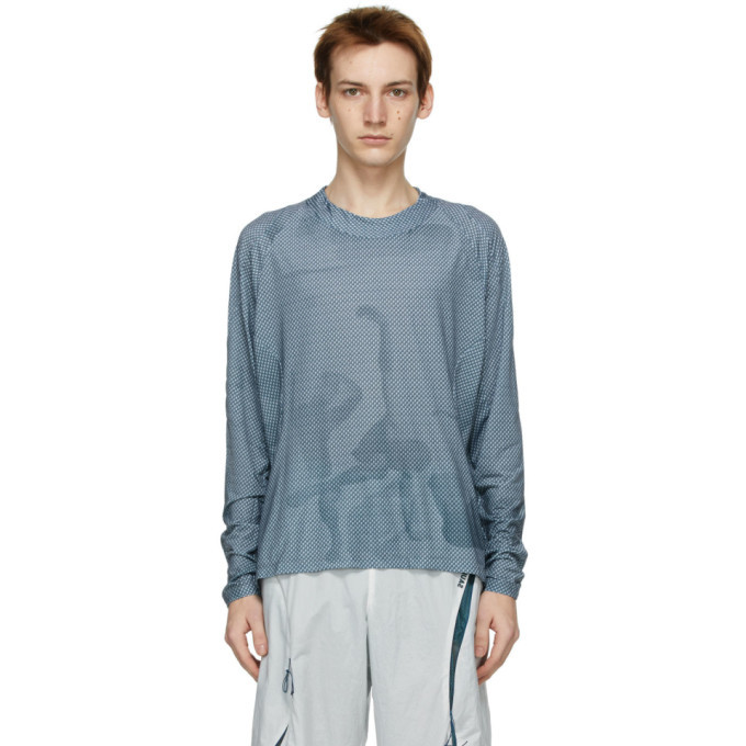 Photo: Saul Nash SSENSE Exclusive Blue See Me From Afar Illusion Long Sleeve T-Shirt