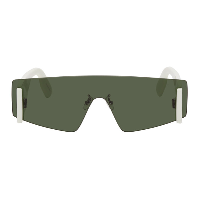 Photo: Kenzo White and Green Shield Sunglasses