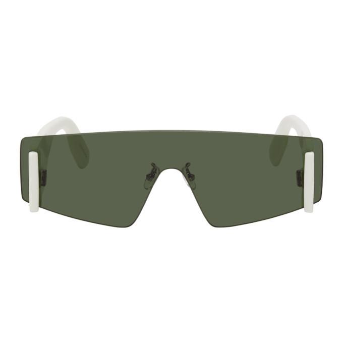 Photo: Kenzo White and Green Shield Sunglasses