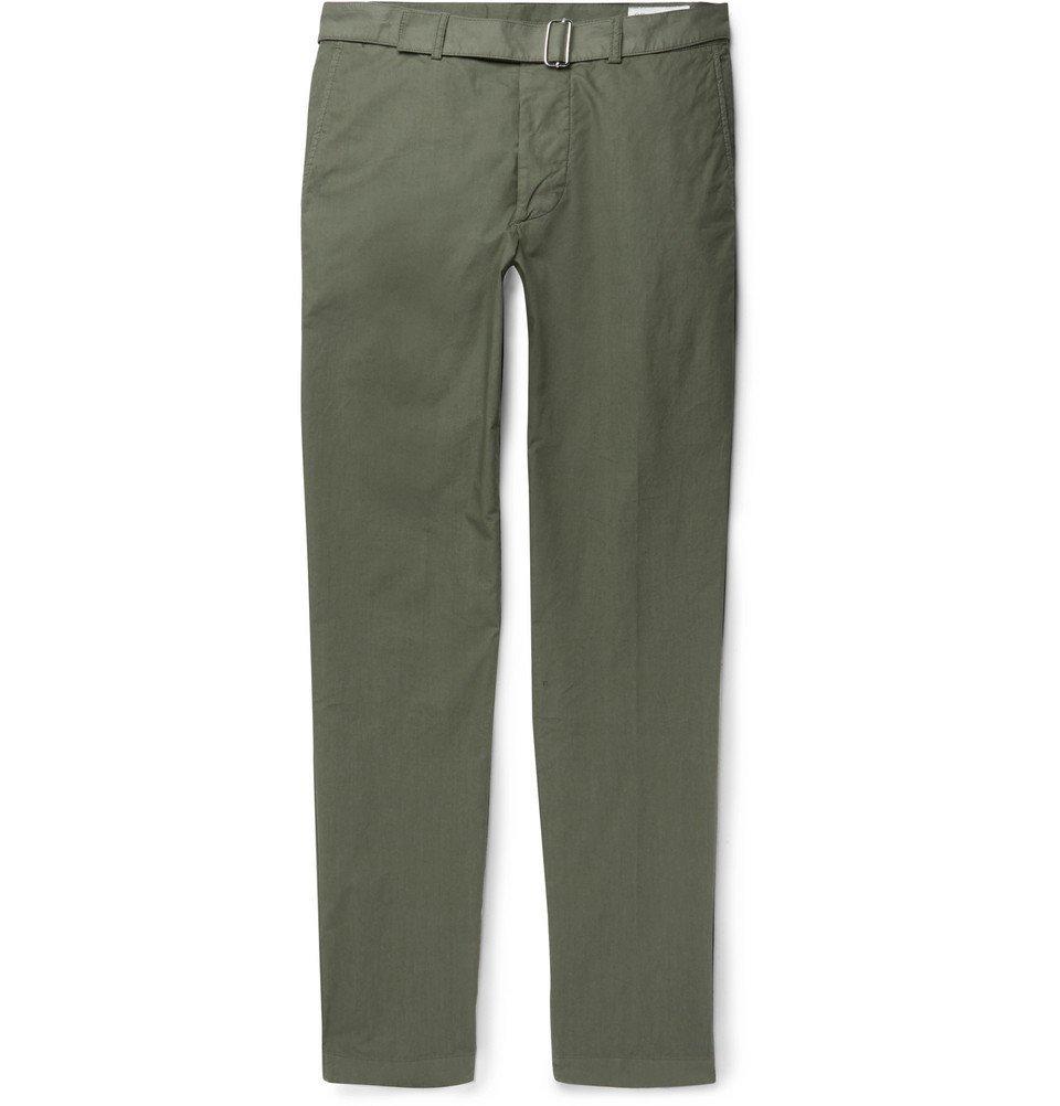 Photo: Officine Generale - Julian Garment-Dyed Cotton-Twill Chinos - Men - Green