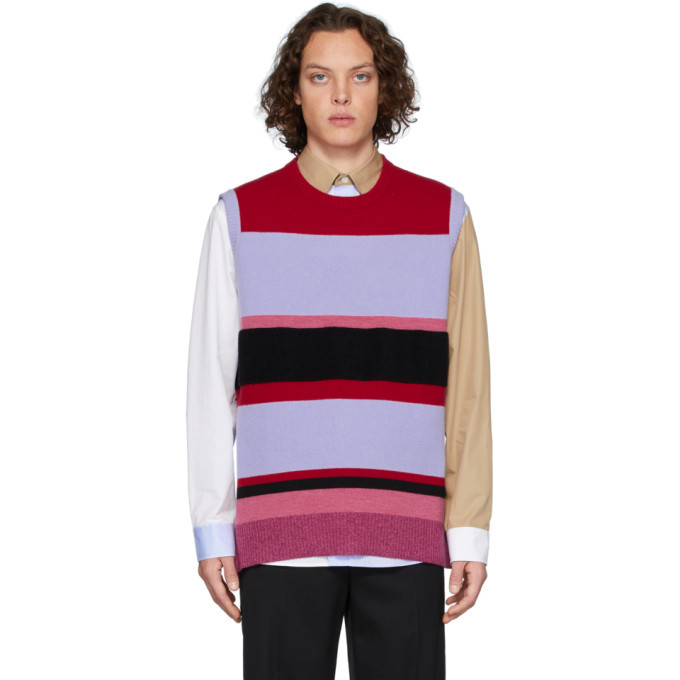 Photo: JW Anderson Red and Blue Wide Stripe Vest
