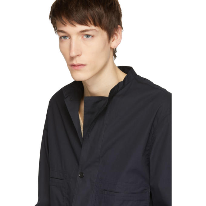 Lemaire Blue Double Front Overshirt Jacket