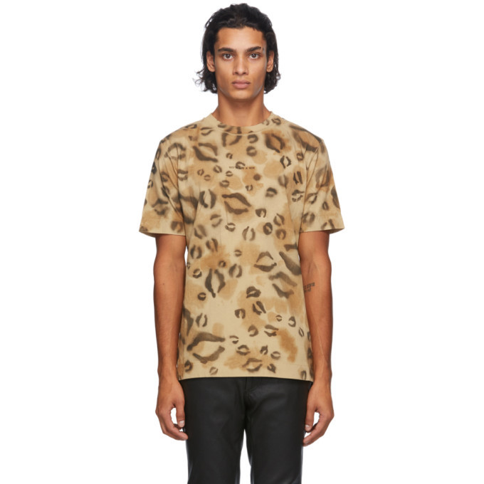 Photo: 1017 ALYX 9SM Brown Leopard Logo T-Shirt