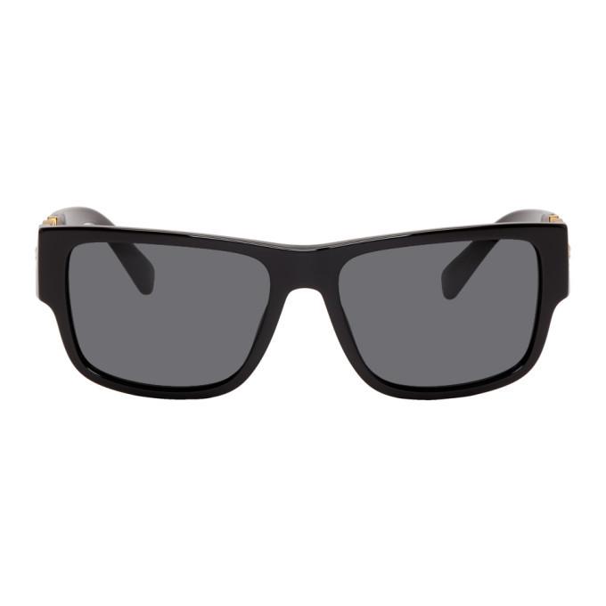 Versace Black Medusa Medallion Rock Icon Sunglasses