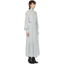 Nina Ricci Grey Silk Georgette Dress