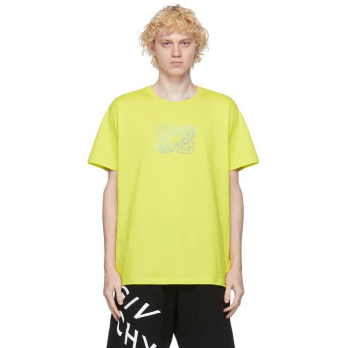 Photo: Givenchy Green Infinity Rings Logo T-Shirt