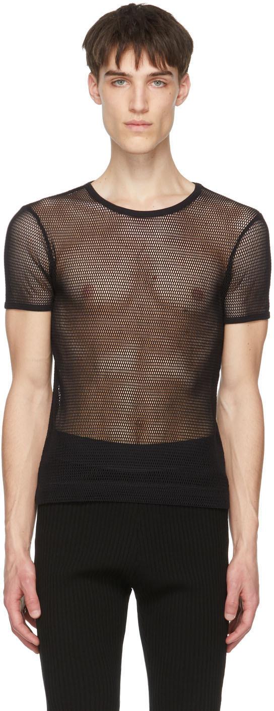 Photo: Dries Van Noten Black Mesh T-Shirt