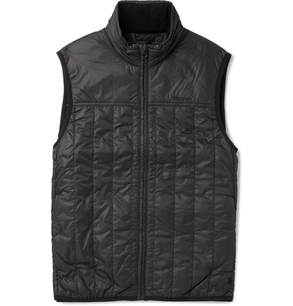 Photo: Filson - Quilted CORDURA Ripstop-Nylon PrimaLoft Gilet - Black